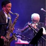 Jean Toots Thielemans with Johnny Griffin photo Hans Speekenbrink